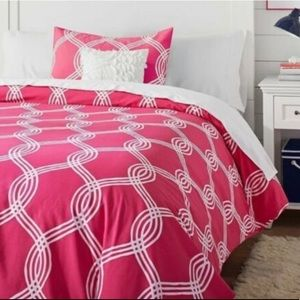 🌸New🌸 Twin Pottery Barn Infinity Duvet Cover NWT